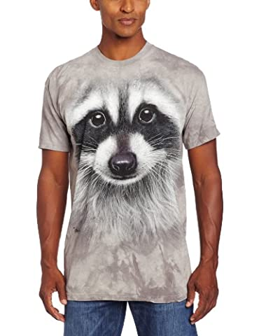 T-Shirt Raccoon Face grau | 3XL