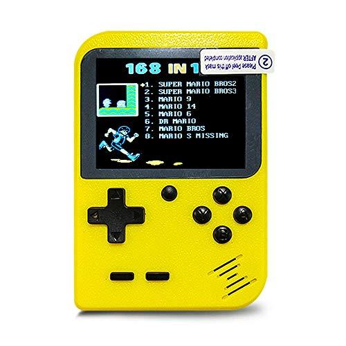 Mini Game Boy 8 Bit Klassischer Farbbildschirm | Projektion auf Fernsehkabel bereitgestellt | 168 Emblematic Games Retro Vintage Nostalgie 90 | Gebrauchsfertig | Trend 2018