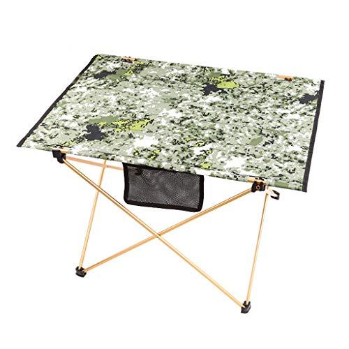 Table Pliante de Camouflage extérieur/Table en Aluminium/Camping Table de Pique-Nique pour Barbecue Portable/Table Pliante de Plage (pour Pique-Nique, Camping, pêche, Plein air)