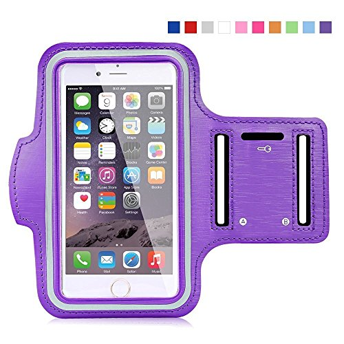 Universal Mobile Arm Band for Keeping Smartphones in Running Jogging & Gym - Purple  available at amazon for Rs.150