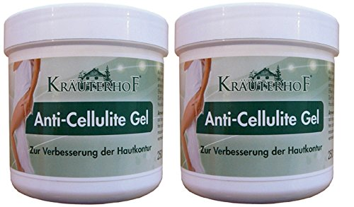Kräuterhof Anti-Cellulite Gel 250 ml 2er pack (2 x 250 ml = 500 ml) (De Creme Cellulite)