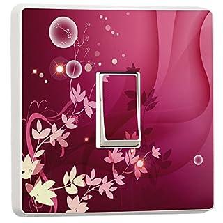 ALL PERSONALISED GIFTS Abstrakt Pink Floral Lichtschalter Sticker Skin Cover Aufkleber