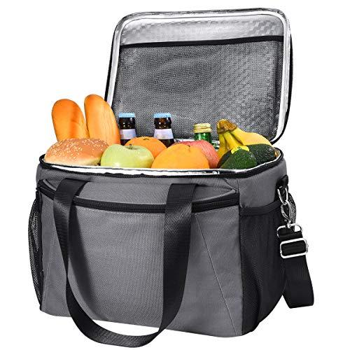 MOVTOTOP 15L Kühltasche, Wiederverwendbar Isolierte Kühlbox für Erwachsene, Wasserdichte Picknicktasche für Camping, Picknick, Arbeit und Schule