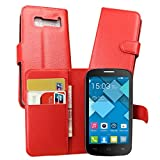 Guran Housse En Cuir pour Alcatel OneTouch Pop C5 Smartphone Flip Cover Etui Debout...