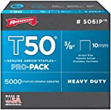 """Arrow A506IP Staples, T50, 3/8"""", 10 mm (Pack of 5000)"""