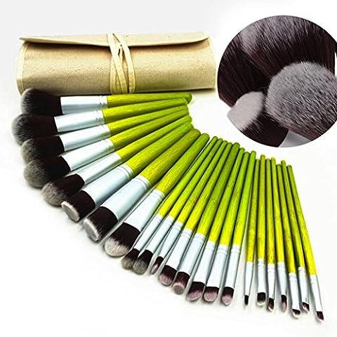 VALUE MAKERS 23pcs pinceau de maquillage - Bamboo Pinceaux de Maquillage - maquillage professionnel - Brosses Pinceaux Kit - Make Up Brush Set - Poudre pour le visage, eye-liner, Fard à joues, correcteur, Lip pinceaux de maquillage + Make Up Pouch Brosses