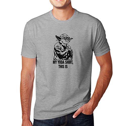 Planet Nerd - My Yoda Shirt this is - Herren T-Shirt, Größe L, grau meliert (Nerd Ideen)