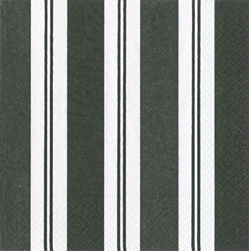Streifen schwarz und weiß Cocktail-Servietten, aus Papier, 20Stück (Caspari Servietten)