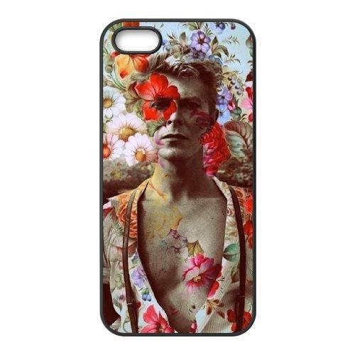 David Bowie coque iPhone 5 5S Housse téléphone Noir de couverture de cas coque EBDXJKNBO13446