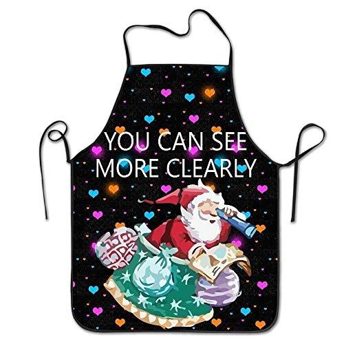 fdgjfghjdfj Christmas Santa Claus Women's Funny Creative Print Cooking Aprons