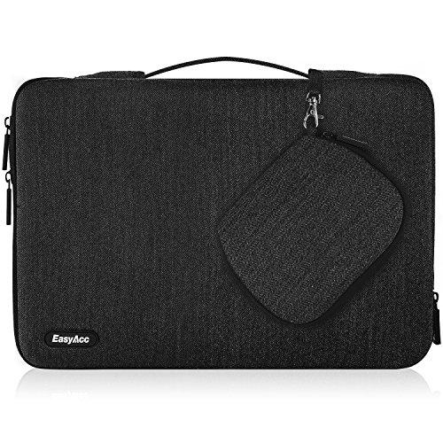 """EasyAcc 14 -15 Zoll Laptoptasche Hülle Sleeve Tragetasche mit Griffen und Zubehörtasche für 14-15,4"""" (35,6-39,1 cm) Laptop / Ultrabook / 15"""" Macbook Pro / 15,4"""" MacBook Pro Retina /14"""" HP Pavilion x360 - Dunkelgrau"""