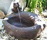 Brunnen-Brunnen Garten- lustiger elektrischer Brunnnen mit Frosch- mit Auffangbecken für Haus und Garten