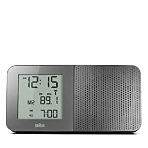 braun digital global radio controlled alarm clock bnc010gy grey tv. Black Bedroom Furniture Sets. Home Design Ideas