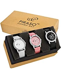 Piraso Analogue Black Dial Women's Watch -P3-12