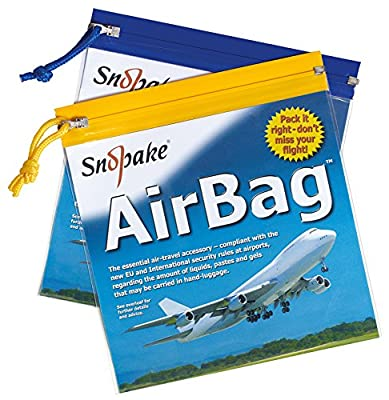 Snopake 15158 Zippa Bag Flight Air Bag Zip Pull 200x200mm [Pack of 5]