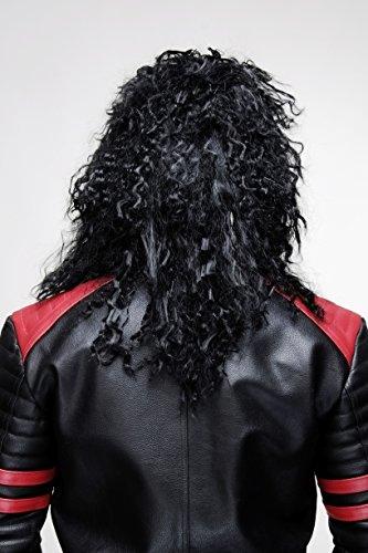 Carnaval-negro-para-hombres-y-mujeres-Unisex-rizos-melena-despuntada-guedeja-brava-largo-Hardrock-Heavy-Metal-BW563-103