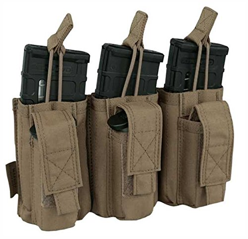 Warrior Elite Ops Triple Open M4 & 9mm Mag Pouches Coyote (Mm 9 Pouch Mag)
