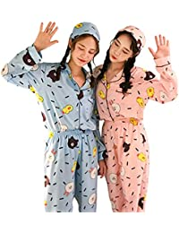 JYHTG Las Mujeres De Kawaii Pijamas De Dos Piezas Fijaron Los Trajes del Día De Fiesta