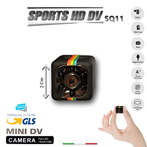 Galleria fotografica SQ11 TELECAMERA SPORT FULL HD MINI DV SPY MICRO CAMERA SPIA NASCOSTA COLORE NERO