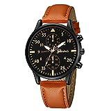 Cramberdy Uhr Herren Uhren Herrenuhr Geschäft Uhren Mode Armbanduhr PU Leder Band Herren Uhr Quarzwerk Armbanduhr