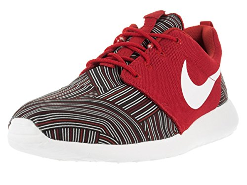 Nike Roshe One Print, chaussures de course homme Rosso (Unvrsty Red/White-Tm Rd-Gym Rd)