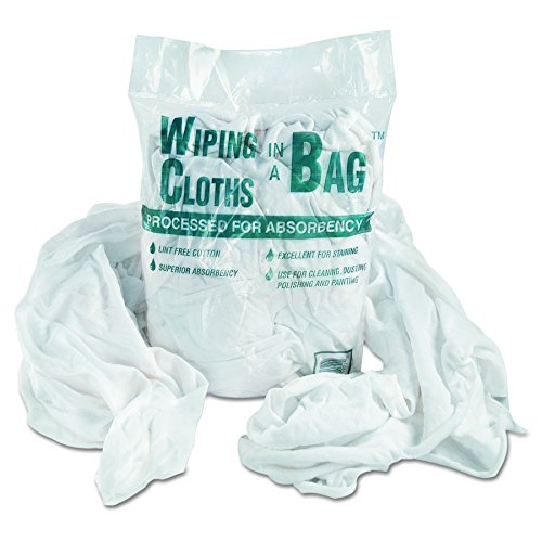 Bag-A-Rags Reusable Wiping Cloths, Cotton, White, 1lb Pack - Rag Bag