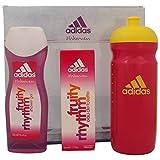 Adidas Fruity Rhythm for Women Edt 50 ml + Shower Gel 250 ml + Trinkflasche Set