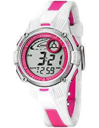 Calypso Watches Kinder/Jugend Armbanduhr Digitaluhr Alarm Weiß-Pink K5558/2