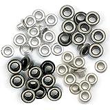 Set de 60 eyelets para Crop a Dile color metales fríos de 0,5cm ref 41584-8