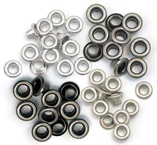 Eyelets - We R Memory Keepers - 60 Standard Cold Metal Ösen für Scrapbooking - 15 von jeder Farbe