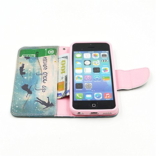 Nutbro [iPhone 5C] iPhone 5C Cases,iPhone 5C Case,Leather Case,Wallet Case,Wallet Leather Case Cover,Flipcase Wallet Carry Leather Skin Cover Case HX-5C-9