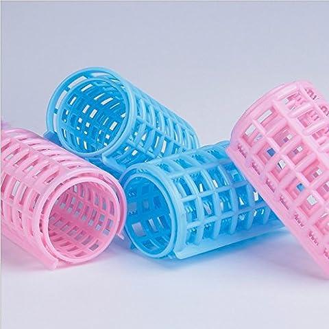 Kimberleystore Dix pcs Plastique DIY Coiffure Rouleau Bigoudis Clips bigoudi