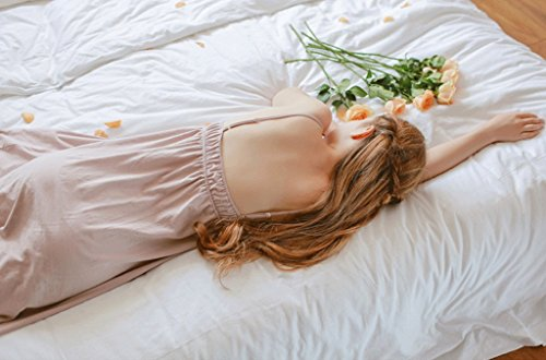 Frühling und Sommer Baumwolle stricken v Kragen Schlinge Prinzessin reine Farbe Spitze sexy Schlaf Rock Pink