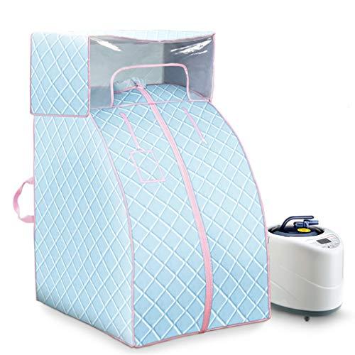 Lee 54069 ADKINC 2L Tragbare Dampfsauna Spa Faltzelt Schnell Falten Schlank Gewichtsverlust Detox Therapie Persönliches Zuhause (Blau, Grau) -