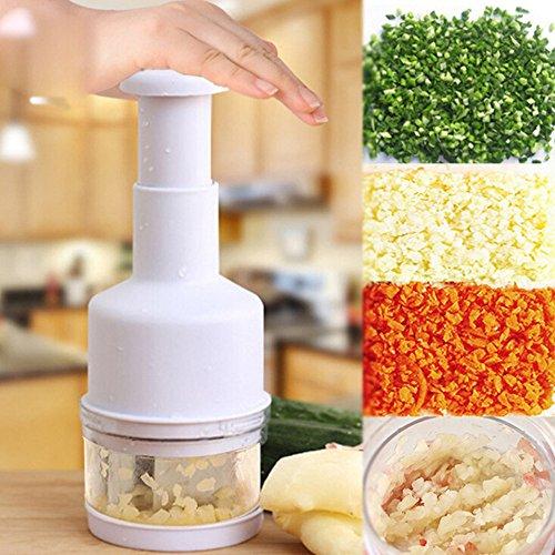 kingko Ingwer Knoblauch Zerkleinerer Gemüse Knoblauch Zwiebel Pressen Chopper Dicer Peeler Cutter Küche Werkzeug (Weiß) (Dicer Chopper Gemüse)