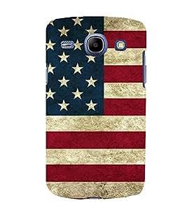 PrintVisa Flag With Stars & Strips 3D Hard Polycarbonate Designer Back Case Cover for Samsung Galaxy Core I8260 :: Samsung Galaxy Core I8262 Duos
