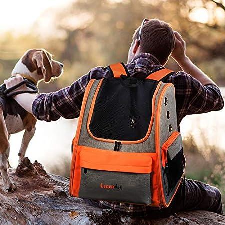 Legendog Hund Rucksäcke, Haustier Reiserucksack, Doppelte Schultergurte Haustier-Träger-Beutel, Transport Tasche für am Besten für unter 4 kg Katzen Hunde, 37,5 cm x 26,5 cm x 43 cm