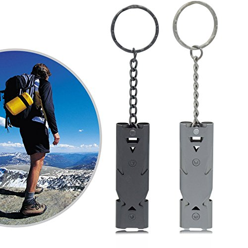 5PCS Hiking Outdoors High Decibel Survival Whistles Safety Emergency Camping