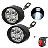 HopeU5 Universal Motorrad / Elektroauto 4Leds Lampe Scheinwerfer Nebelscheinwerfer Scheinwerfer Fahren Hilfslicht (2 Stück)