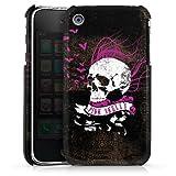 DeinDesign Coque Compatible avec Apple iPhone 3Gs Étui Housse Tête De Mort Noir Pink