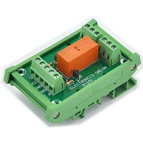Electronics-Salon Module de relais bipolaire DPDT 8 ampères, bobine DC24V, avec carter de rail DIN