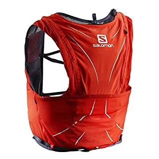 Salomon Advanced Skin 12 Set Lightweight Hydration Pack, 12 Litre, Red/Graphite, X-Large