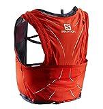 Salomon L40138300 Zaino Leggero Idrico per Corsa/Escursionismo ADV Skin 12 Set, Capacità di 12 l, Rosso/Grigio, XL