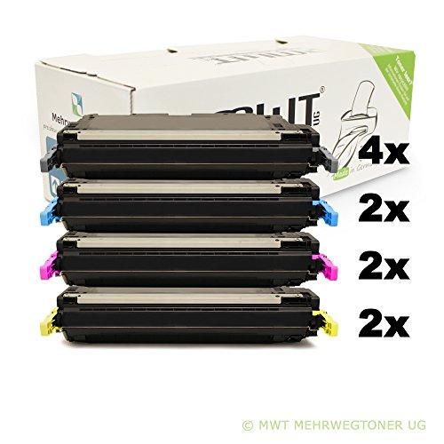 10x MWT Remanufactured Toner für HP Color Laserjet 4700 PH DN N DTN Plus ersetzt Q5950A-53A
