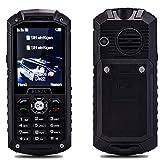 RUNZU M8 2G GMS Dual Sim Outdoor Rugged Mobile Phone,2.4 inch Display,Unlocked,IP68 Waterproof,Shockproof,Dust Proof Cell Phone with Loud Speaker and Torch