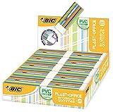 BIC Radierer PLAST-OFFICE aus Kunststoff, Displaybox à 20 Stück