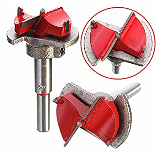 AUAUDATE 35mm Spotting Drill Bit Hinge Open Hole Forstner Woodworking Cutter + Hex Wrench