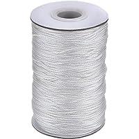 Xutong - Cordón trenzado de color blanco para persiana de aluminio, estores, para jardinería y manualidades, de 1,5 mm