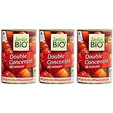 Jardin Bio Double Concentré de Tomate Boîte 440 g - Lot de 3