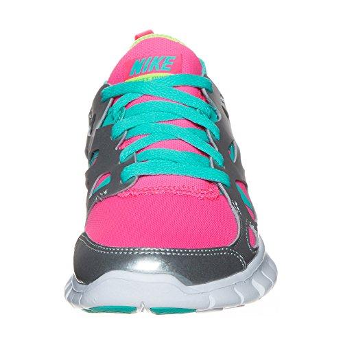 Nike Laufschuhe Free Run 2 (GS) Damen hyper pink-white-silber metallic-volt (477701-601)